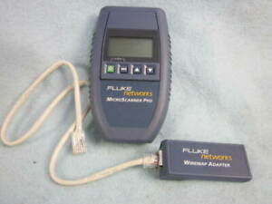 Fluke Networks Microscanner Pro With Wiremap Adapter And Cable