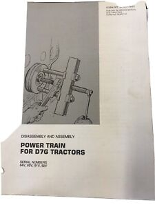 Cat Caterpillar D7g Power Train Disassembly Service Manual Transmission