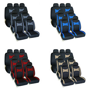 3 Row 7 Seat Car Seat Covers Breathable Front Rear Set For Suv Van Truck