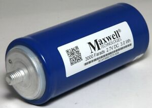 Maxwell Technologies Ultra Capacitor 3000 Farads 2 7v Dc 3 0wh Bcap3000 P270 K04