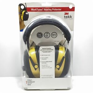 3m 90541 Worktunes Hearing Protector Earmuff Black yellow New sealed