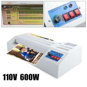 Lamination Machine Thermal Laminator 13 Hot cold Laminator A3 A4 Rollers System