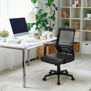 Office Chair Ergonomic Height Adjustable Mid back Mesh Computer Desk Chair