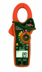 Extech Ex830 True Rms 1000 Amp Ac dc Clamp Meter With Infrared Thermometer