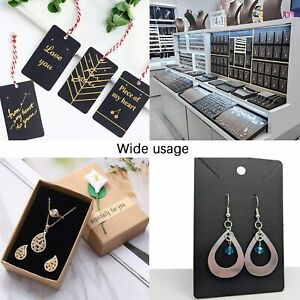 150 Pcs Necklace Earring Display Card With 150 Self seal Bags Holder Cards Tags