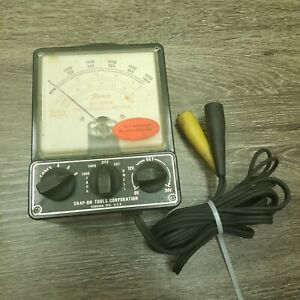 Snap On Mt 415b Tach Dwell Meter Made In Usa 6 12 24 Volt 4 6 8 Cylinder