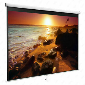84 16 9 Projection Screen Manual Pull Down Projector Screen Home Theater Movie