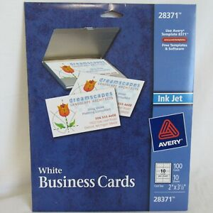 Avery 28371 White Business Cards 5 Sheets 50 Cards