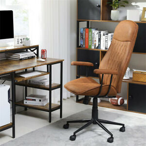 Office High back Desk Chair Height Adjustable Leather Swivel Task Gaming Chair