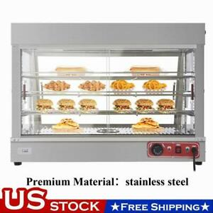 35 Glass Commercial Food Warmer Court Heat Food Pizza Display Warmer Cabinet