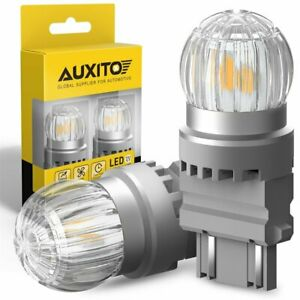 Auxito 3157 3156 3157a Led Amber Turn Signal Drl Side Marker Light Bulbs 2us