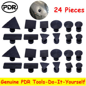 24pcs Pdr Tabs Glue Puller Car Body Paintless Dent Repair Hail Removal Tools Set