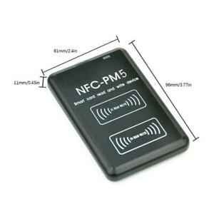 Nfc Rfid Card Copier Reader Writer Duplicator For Ic Id Cards 9 Frequencies