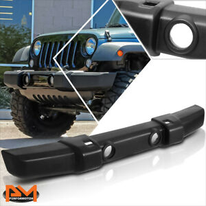 For 07 18 Jeep Wrangler Oe Style Front Lower Bumper W Tow Hook Fog Light Holes