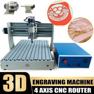 4 Axis 3040 Cnc Usb Router Engraver 3d Pcb Engraving Drilling Machine 400w rc