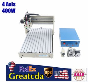 Usb 3040 4axis Desktop Cnc Router Engraver Carving Milling Machine Cutting 400w