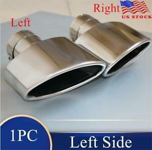 Universal Stainless Steel Exhaust End Tips Pipes Exhaust Oval Tip 63mm Left Side