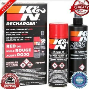New K N Air Filter Cleaning Kit Aerosol Filter Cleaner And Oil Kit