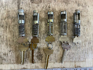 Lot Of 5 Oem Schlage Cylinders Locksmith Collectors Used Locks