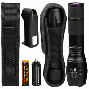 Super Bright 90000LM Tactical LE Flashlight With Rechargeable Battery $12.99