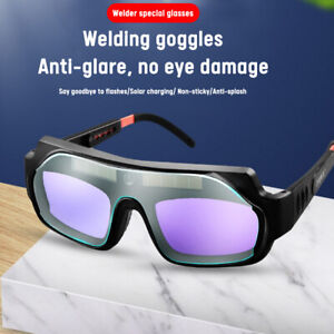 Solar Safety Automatic Darkening Welding Glasses Anti glare Protection Goggles
