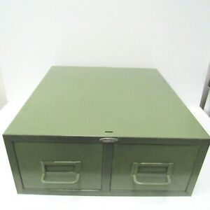 Vtg Cole Steel Metal Card Catalog File Cabinet Drawers Mid Century Industrial
