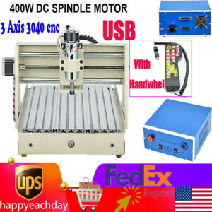 Usb 3axis 400w 3040 Cnc Router 3d Engraver Engraving Drilling Milling Machine rc