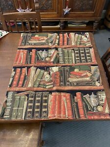 Authentic Belgian Tapestry Library Book Shelves Bought In Ghent Belgium
