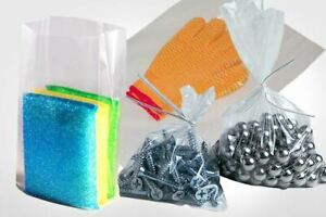 100 Pack Clear Poly Lay flat Bags Open Top End 2 Mil Baggies Large Plastic Bags