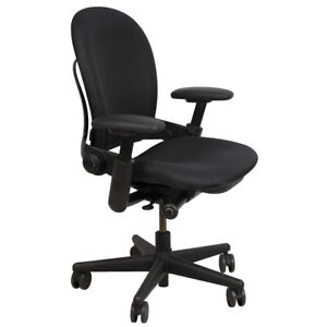 Steelcase Leap V1 Swivel Adjustable Fabric Task Chair Fixed Arms Refurbished