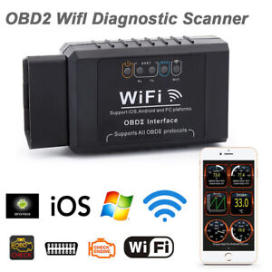 Elm327 Wifi Obd Obdii Auto Car Diagnostic Scan Tool Scanner For Ios Android J