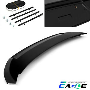 Fits 2010 2014 Ford Mustang Painted Gloss Black Rear Trunk Wing Spoiler Lid