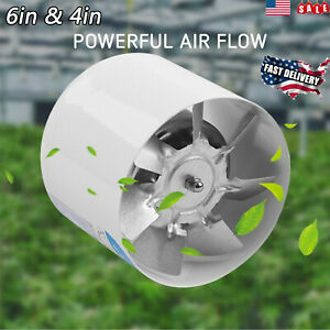 4 6 In Duct Booster Inl ine Blower Fan 260 Cfm Exhaust Ducting Cooling Vent Fan