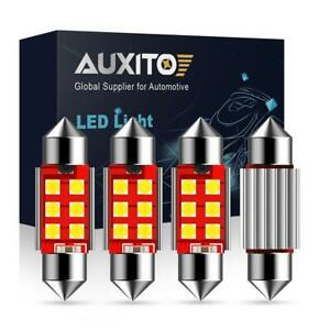 4x Auxito Canbus 6418 6411 36mm Led License Plate Tag Light Bulbs For Bmw Audi