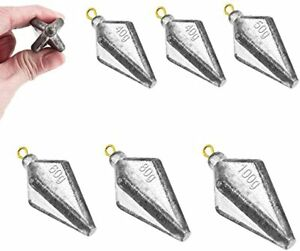 Fishing Pyramid Weights Fishing Sinkers Weights Kit Bullet Lead Sinkers Fishing $19.39