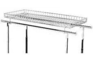 Retail Store Supply Fixtures Basket Topper For Chrome Double Rail Clothing Rack