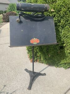 Cast Iron Base Claw Fort Orchestra Milwaukee Auditorium Advertising Music Stand