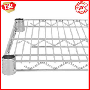 18 X 72 Nsf Chrome Wire Shelf only Storage Vented Metal Rack Shelving New