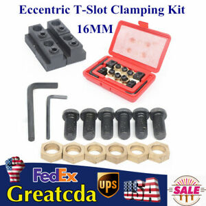 Eccentric 16mm T slot Clamping Kit Stud 1 2 For Milling Machine Work Table Usa