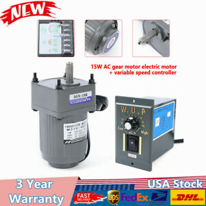 Gear Motor Electric Variable Speed Controller 1 10 125rpm 110v 15w Auto Newest
