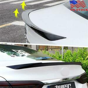 Universal Glossy Black Car Rear Wing Lip Spoiler Tail Trunk Boot Trim M4 Style