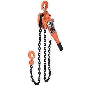 3 Ton 6600lb Lever Block Chain Hoist Ratchet Type Come Along Puller With Chain