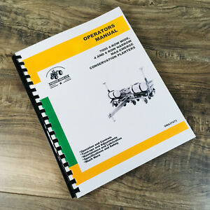 Operators Manual For John Deere 7000 Conservation Planters Owners Book 4 6 Row
