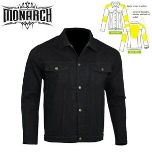 Mens Boys Denim Jacket Motorcycle Motorbike CE Armored lined with Kevlar® $84.99
