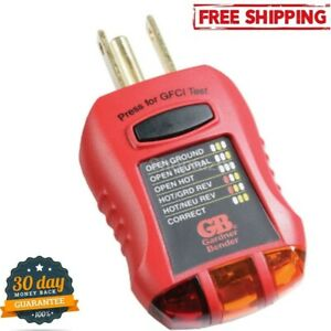 Gfci Electric Socket Outlet Receptacle Tester Circuit Fault Analyzer Breaker Red