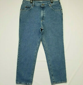 Lee 40x32 Relaxed Fit Classic Tapered Leg Medium Blue Denim Wash Men#x27;s Jeans $24.99