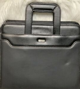 Franklin Covey Day One Black Organizer Planner Zipper Handles Simulated Leather