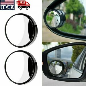 Universal 2pcs Car Auto 360 Wide Angle Convex Rear Side View Blind Spot Mirror