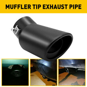 Car Exhaust Pipe Tip Rear Tail Throat Muffler Stainless Steel Bend Accessories