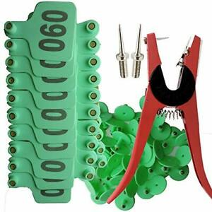 Ear Tag Applicator For Cattle 001 100 Cattle Ear Tags With Pliers Livestock I